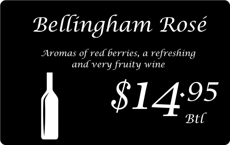 Price Tag Card Wine Bottle Rose