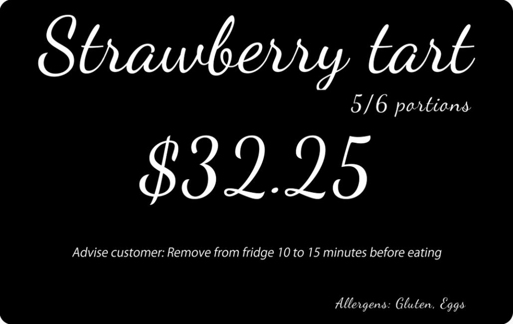 Price Tag Bakery Strawberry Tart (2)