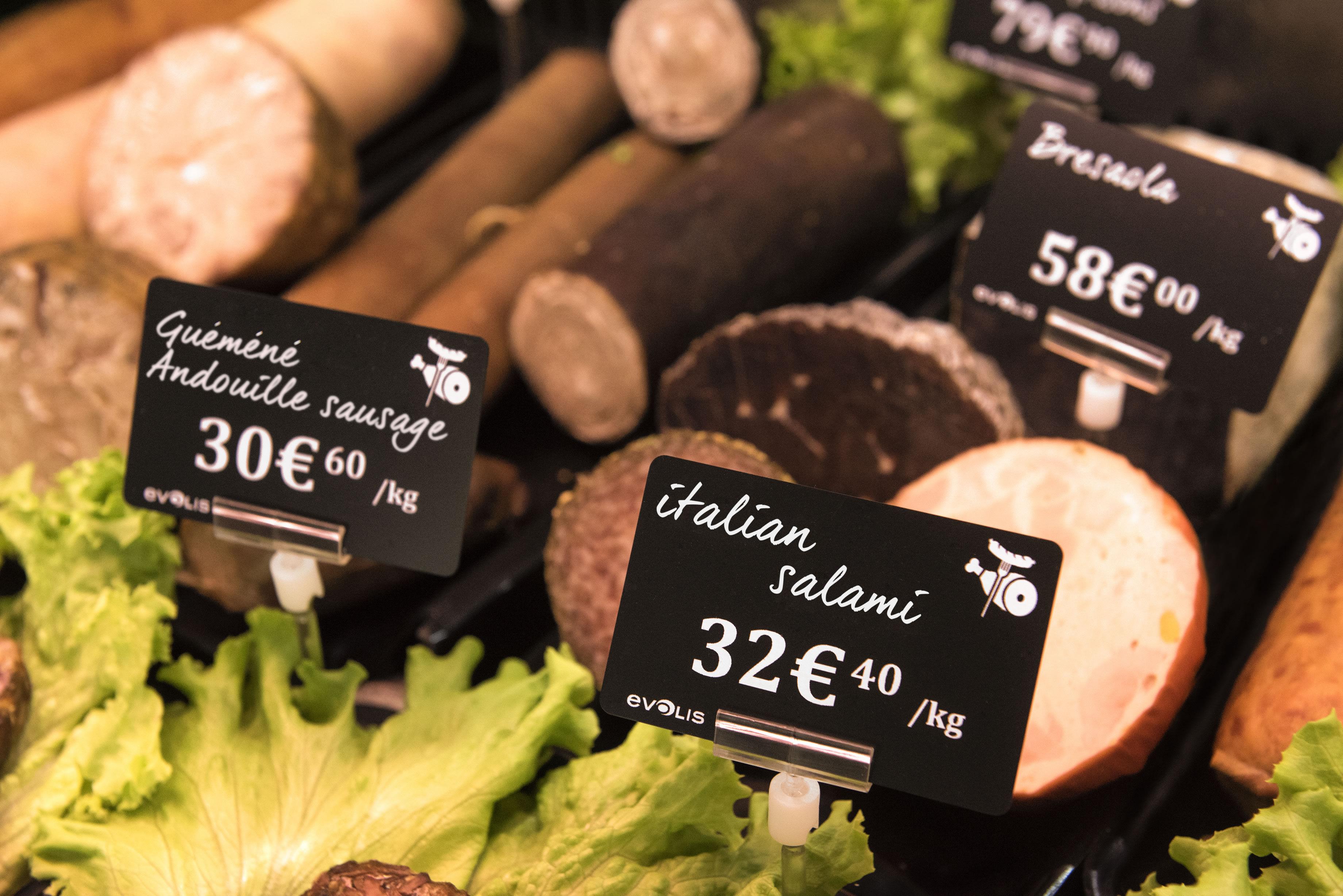 Salami Price Tag created by Edikio food label printers