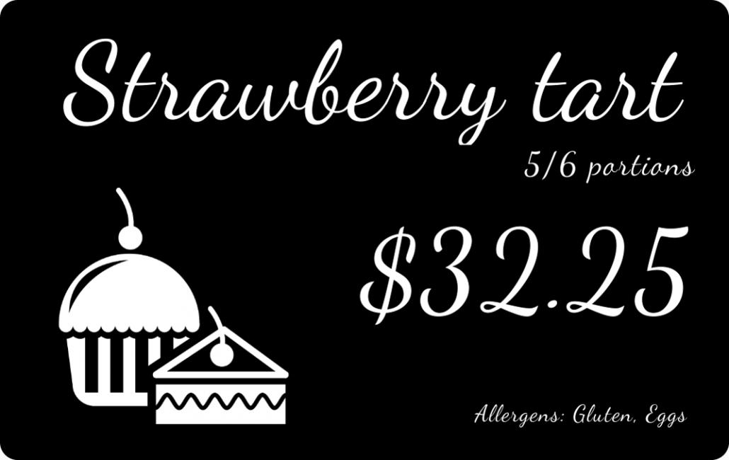 Price Tag Bakery Strawberry Tart