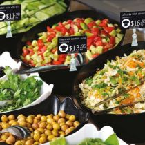 Salad Price Tag labels created by Edikio plastic card printers
