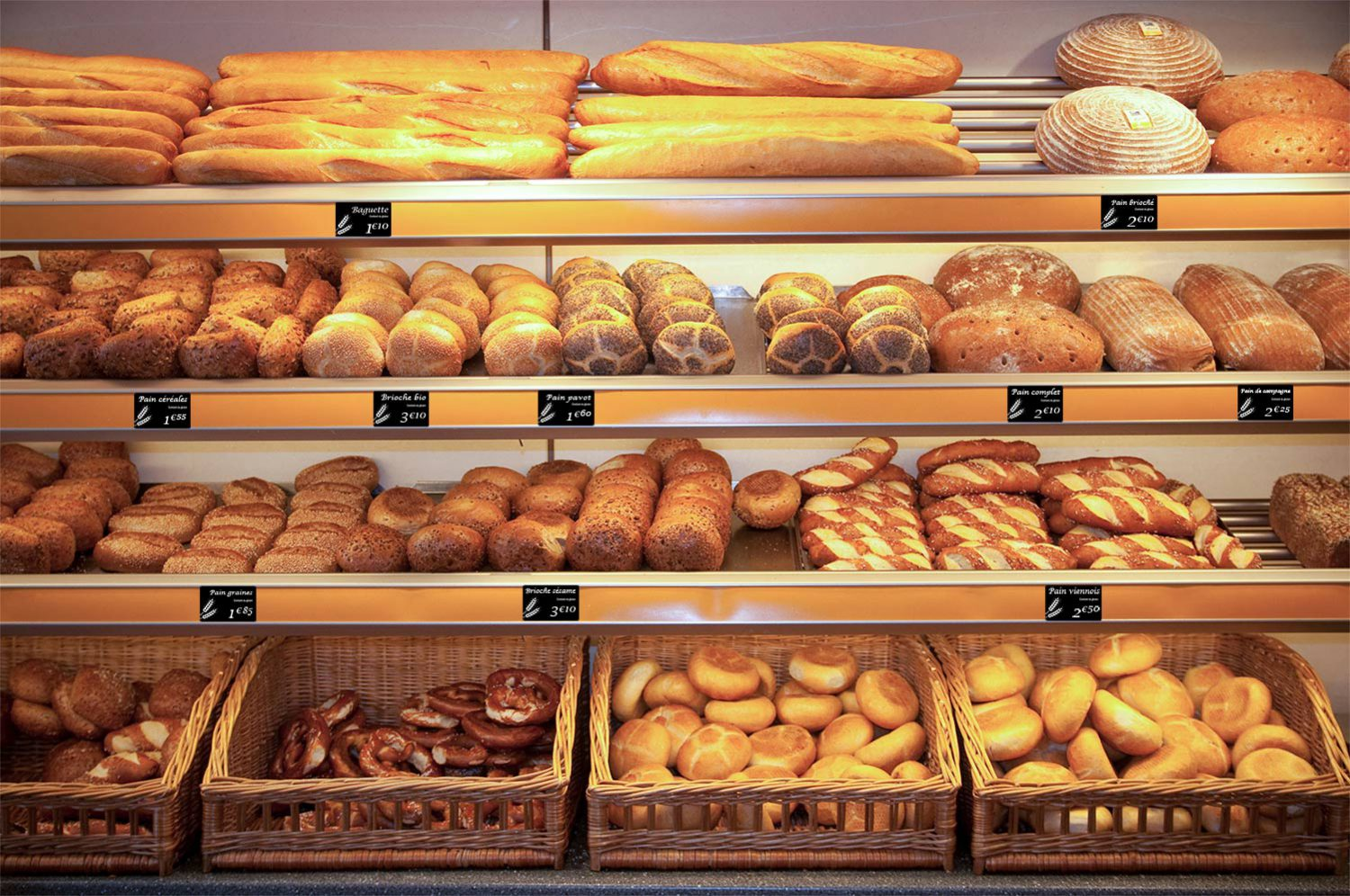 Bakery Bread Price Tags designed and created by Edikio price tag solution