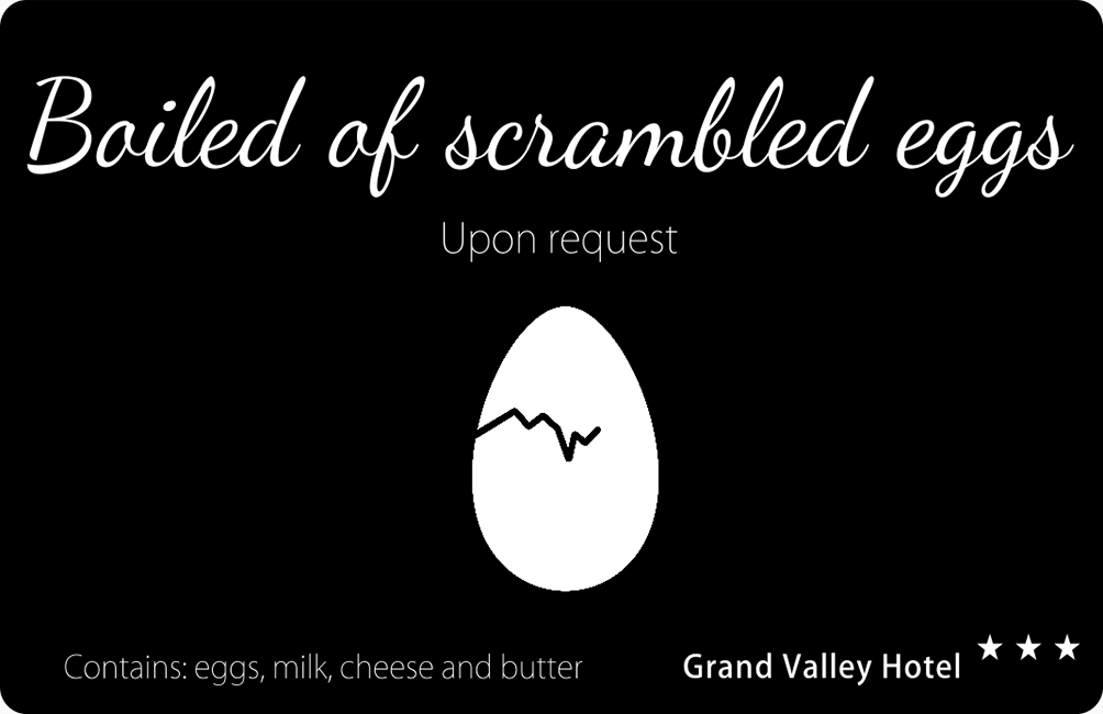 Buffet Display Label - Scrambled Eggs