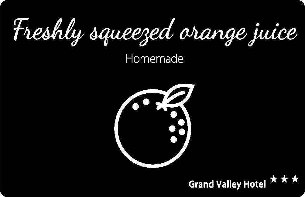 Buffet Display Label - Orange Juice